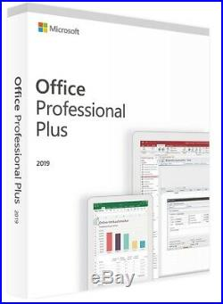 Microsoft Office Professional Plus 2019 Suite Retail For 5 Users