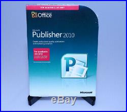 Microsoft Office Publisher 2010 Academic ver 164-06306 new sealed full retail