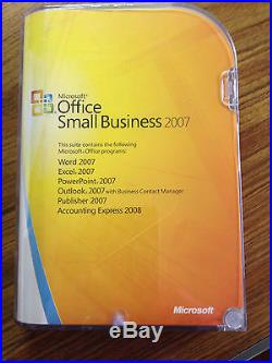 Microsoft Office Small Business 2007, NewithUnopened Full Retail Version