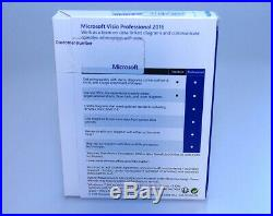 Microsoft Office Visio Professional 2016 GENUINE sealed NEW D87-07120 Win7/10