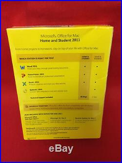 Microsoft Office for MAC 2011 Home and Student Family Pack For 3 Users/ 3 MACs