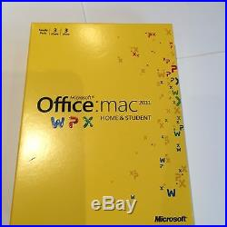 Microsoft Office for Mac Home and Student 2011 for 3 MACs GENUINE