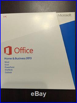 Microsoft Office home and business 2013 32/64bit English Brand New DISC KEY CARD