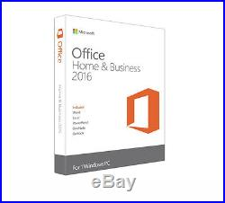 Microsoft T5D-02776 Office 2016 Home & Business 1 PC Software Suite