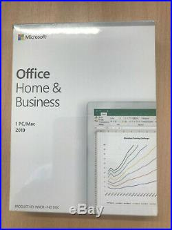 Microsoft office Home and Business 2019 1PC / Mac New Sealed