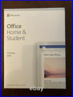 Microsoft office home and student 2019 pc/mac NIB never opened software