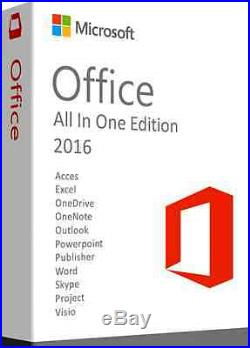 Microsoft office, professional plus 2016, project 2016 and visio pro 2016