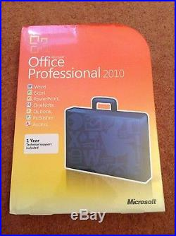 New Genuine Microsoft Office Professional 2010 1 User 2 Pc Software