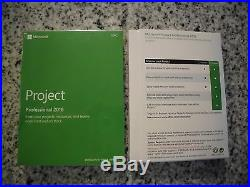 NEW MICROSOFT OFFICE PROJECT PROFESSIONAL 2016 FULL RETAIL VERSION with COA & KEY