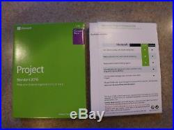NEW MICROSOFT OFFICE PROJECT STANDARD 2016 FULL RETAIL VERSION with COA & KEY