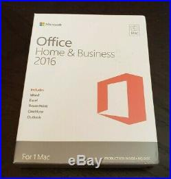 NEW Microsoft Office Home and Business 2016 MAC Word Excel Outlook Sealed