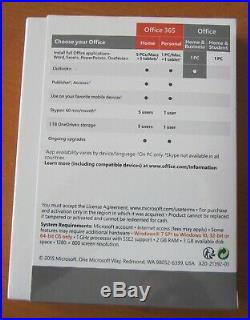 NEW Microsoft Office Home and Business 2016 Windows, 1 User PC T5D-02374