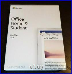 NEW Microsoft Office Home and Student 2019 Windows or Mac 79G-05029