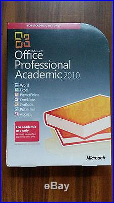 NEW Microsoft Office Professional Academic 2010 Full Version for 2 PC SEALED BOX