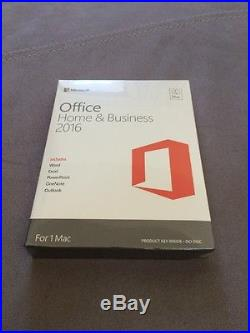 NEW SEALED Microsoft OFFICE Home and Business 2016 MAC SKU- W6F-00635