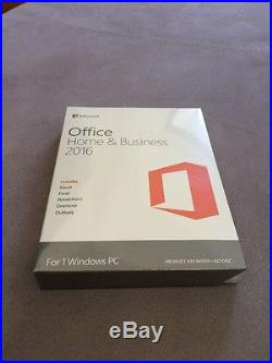 NEW SEALED Microsoft Office Home and Business 2016 SKU- T5D-02355