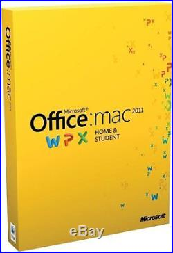 NEW & SEALED Microsoft Office for Mac Home and Student 2011 3 Users MACs GENUINE