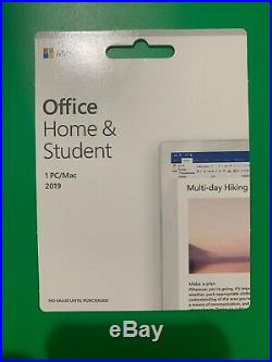 New Microsoft Office Home and Student 2019 1 Device PC Win 10 or Mac