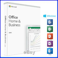 Sealed Microsoft Office Home And Business 2019 1PC / Mac 32 & 64Bit PKC Card Box