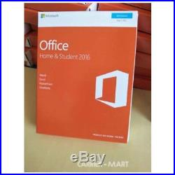 Sealed! Microsoft Office Home & Student 2016 Product Key+DVD for 1 PC Windows